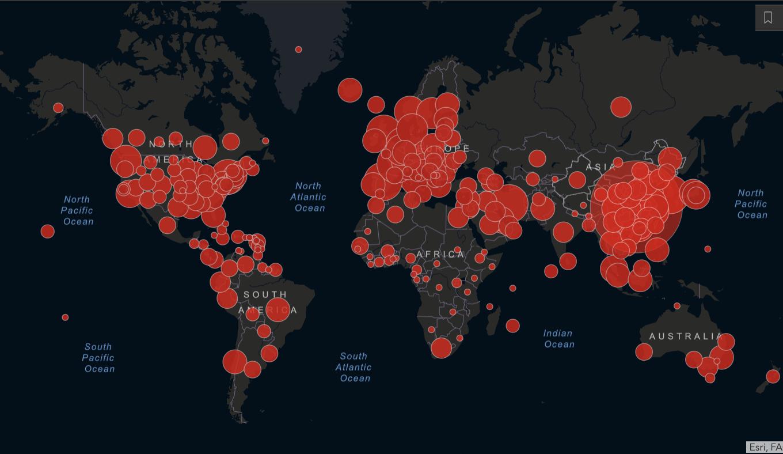 Coronavirus-mappa-mondiale